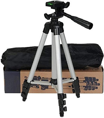 metors 3110 Portable and Foldable Tripod with Mobile Clip Holder Bracket Fully F