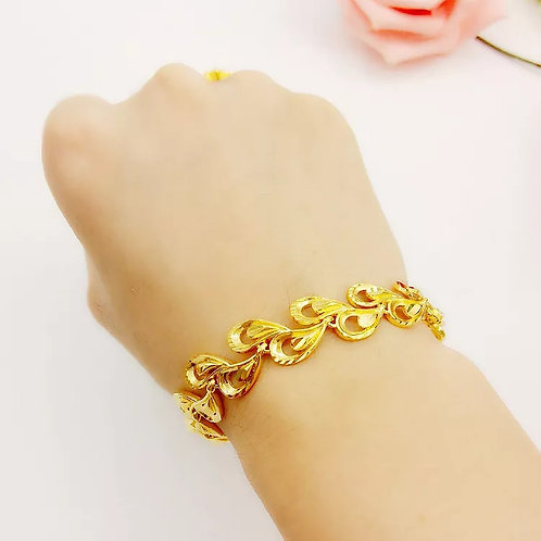 Gold With The Same Sha Jin Euro Fashion Big Phoenix Tail Bracelet Female Wedding