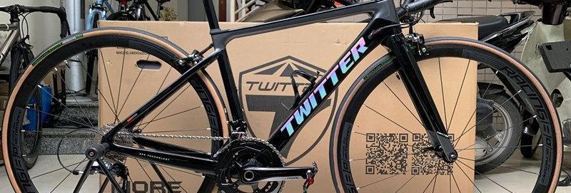 Xe đạp đua TWITTER R10 model 2020. Khung full Carbon, groupsets SRAM RIVAL 11