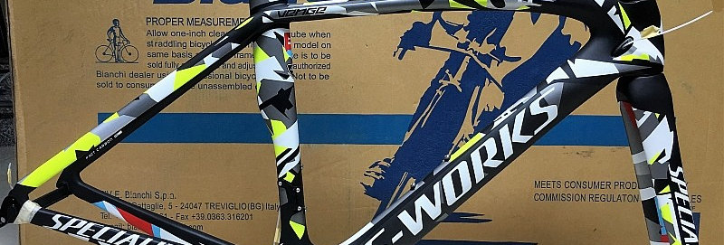Khung sườn xe đạp đua S-WORKS VENGE PETER SAGAN (full carbon),sơn Art cực đẹp