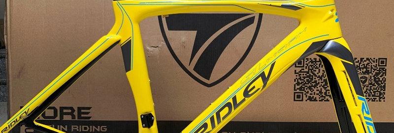Khung sườn xe đạp đua chuyên nghiệp : RIDLEY NOAH SL (Full Carbon). Màu Vàng