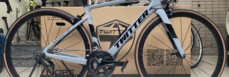 Xe đạp đua TWITTER STEALTH PRO (Tàng hình) 2020. Khung Carbon, Shimano 105 R7000