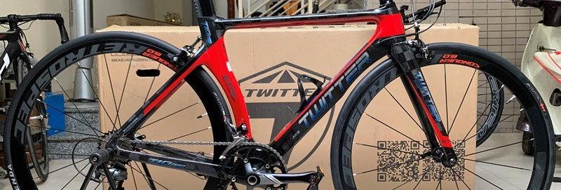 Xe đạp thể thao Road bike tay cầm ngang TWITTER T10 PRO (group Shimano TIAGRA)