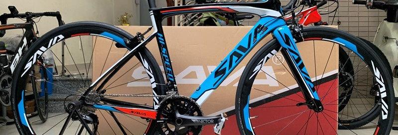 Xe đạp đua SAVA HI SPEED - Khung full Carbon, groupset Shimano 105 R7000