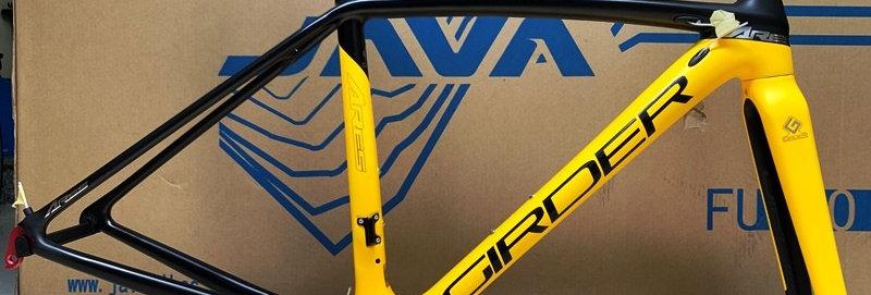 Khung (sườn) xe đạp đua chính hãng GIRDER ARES - Full carbon. Siêu nhẹ, siêu bền