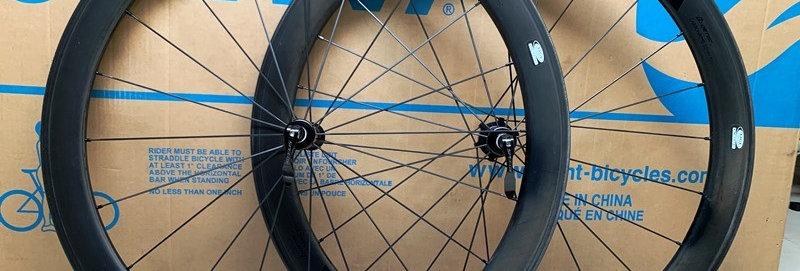 Bộ bánh xe đạp đua SPEEDX 50 - Full Carbon (Tem Đen)