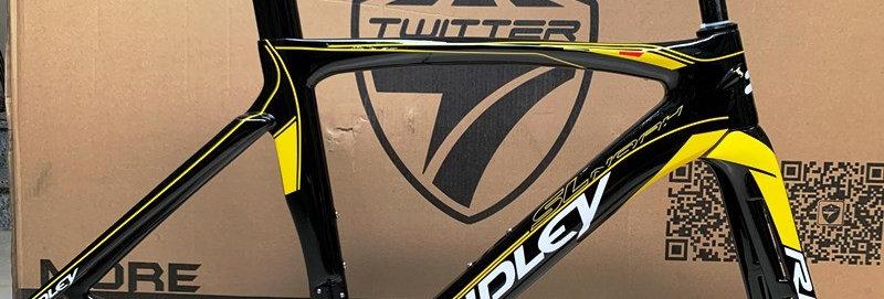 Khung sườn xe đạp đua chuyên nghiệp : RIDLEY NOAH SL (Full Carbon). Màu Đen/Vàng