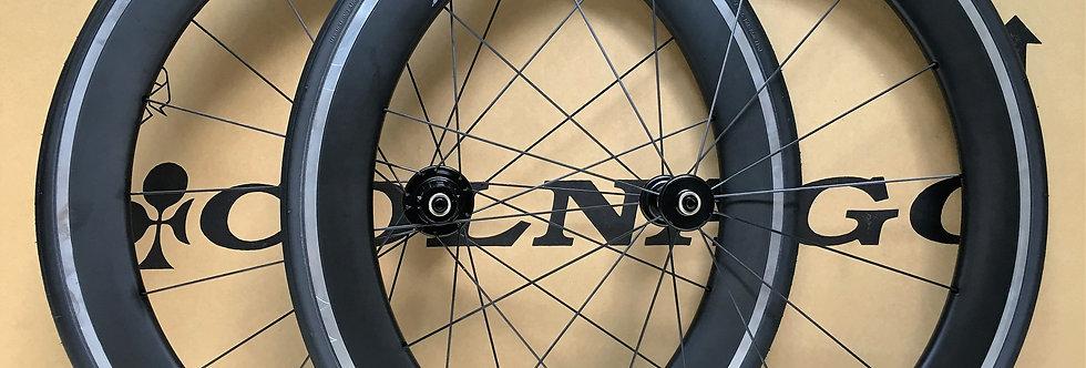 Bộ bánh xe GIANT P-SLR 1 AERO Carbon má nhôm (MỚI 100%)
