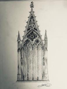 Rayonnant Gothic Window