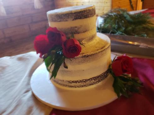 Decadent Delights-Wellington,CO - Rose Wedding cake