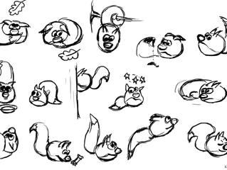 Учебный процесс. 2д аниматик в ASP и позы персонажа.