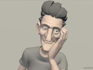 Мимика мужского персонажа. Тренировка в создании эмоций 2.
