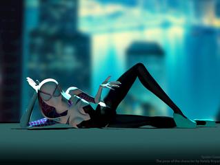 Дизайн поз персонажей для анимации.