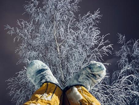 Talvinen villasukkakävely jalkaterien hyvinvointiin