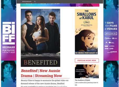 Benefited featured in FilmINK