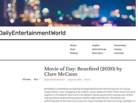 Benefited featured in Daily Entertainment