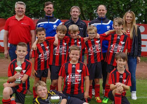 Mannschaftsfoto, Sieger Sparkassen-Cup 2017 - Kreis Rhön-Grabfeld, (U9) F-Junioren
