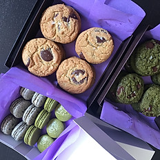 cookies and macarons for a small party