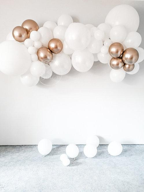 Girlanda balonowa - biało złota
