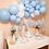 Thumbnail: Girlanda balonowa - niebiesko biała