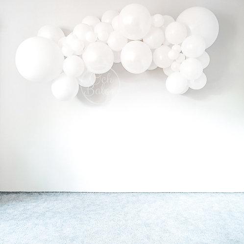 Girlanda balonowa - biała