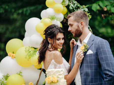 Żółty - kolor przewodni ślubu