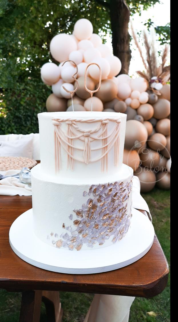 tort lublin, tort urodzinowy, tort na 30 urodziny, tort boho, przyjęcie boho, urodziny boho, ścianka balonowa, ścianka do zdjęć, dekoracja przyjęcia, plener, świeczki 30, świeczki urodzinowe, atelier słodkości lublin