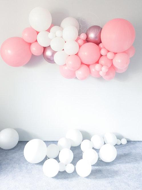 Girlanda balonowa - różowo biała