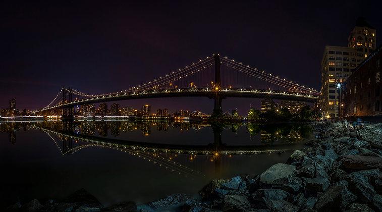 Manhattan Bridge Reflections