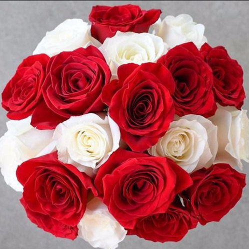 Candy Cane ™ Rose Flower Bunch by 1800Gifters ®
