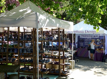booths at the Poulsbo Arts Festival