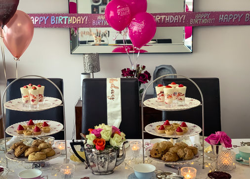A Birthday Party Afternoon Tea in London.