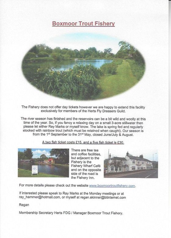 Boxmoor Trout Fishery