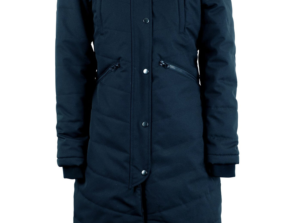 Montar Dicte Extra Long Jacket With Slits - Navy