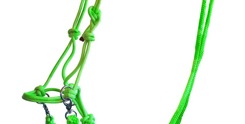 Medway Rope Halter with Reins (bitless bridle)