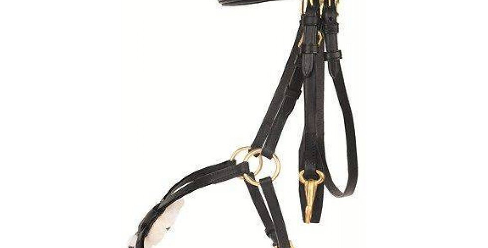 HKM - Bridle - Mexican Style - with padded grackle noseband