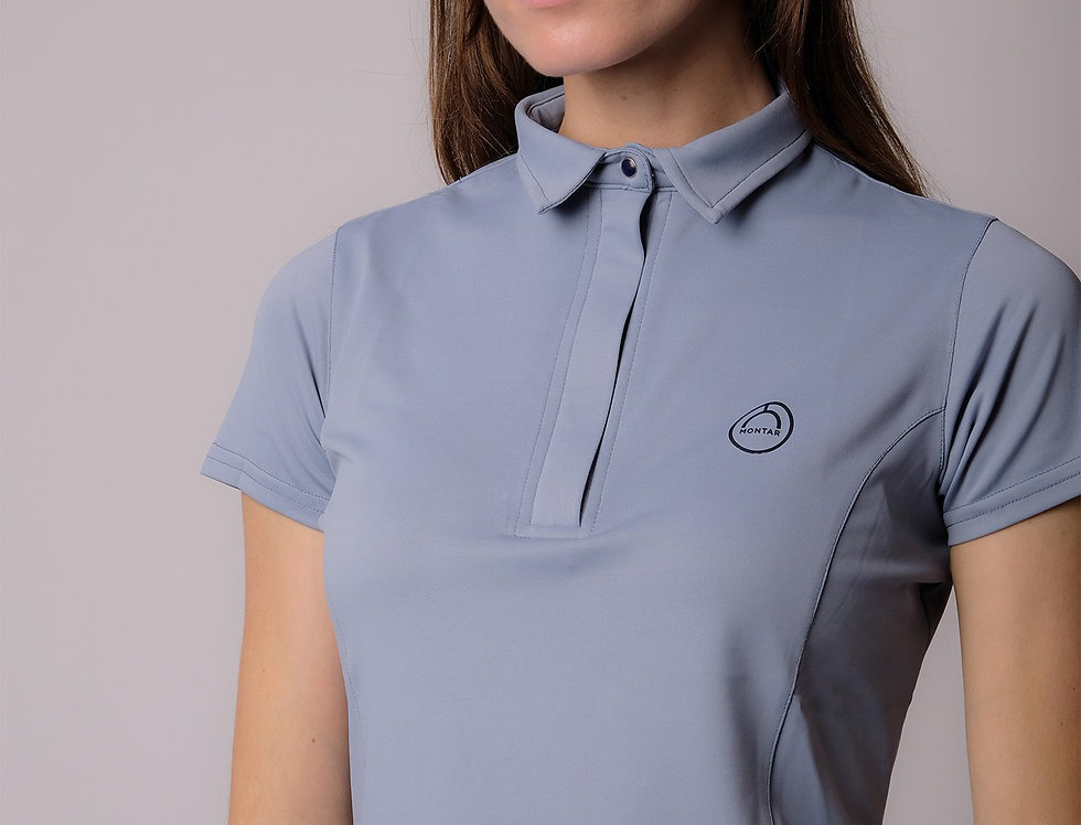 Montar Thilda Technical Basic Polo Shirt - Soft Blue