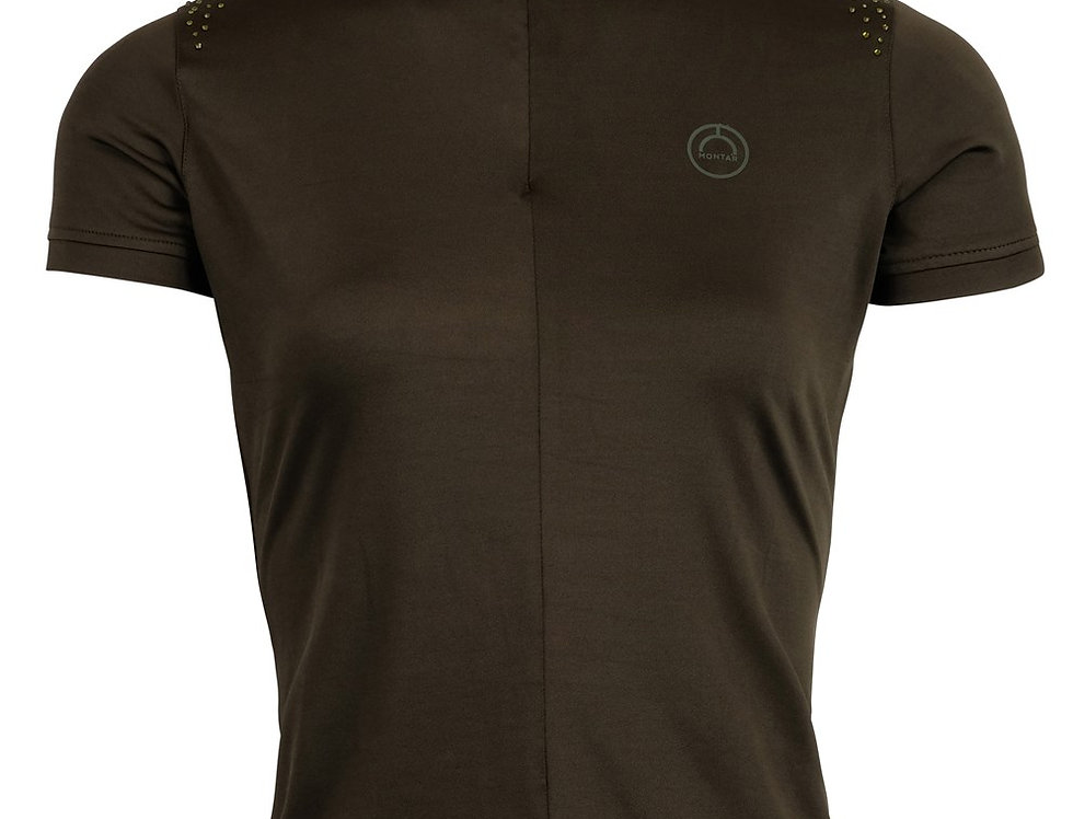 Montar Demy Mon-Tech Shirt Crystal Shoulders - Olive