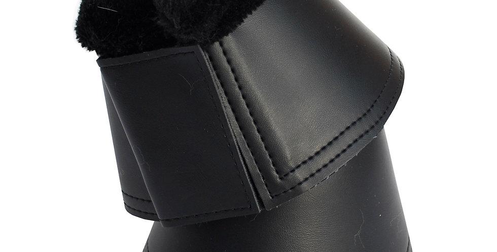 Rhinegold Fleece Trim Neoprene Over Reach Boots-PU Wrapped