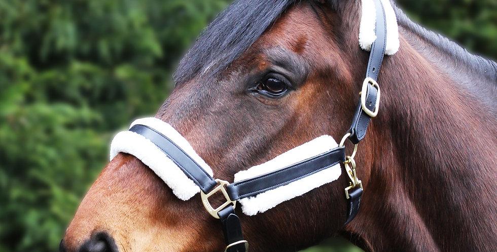 Gallop Prestige Faux Fur Leather Headcollar