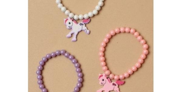 Stretch Bracelet with Pony Charm