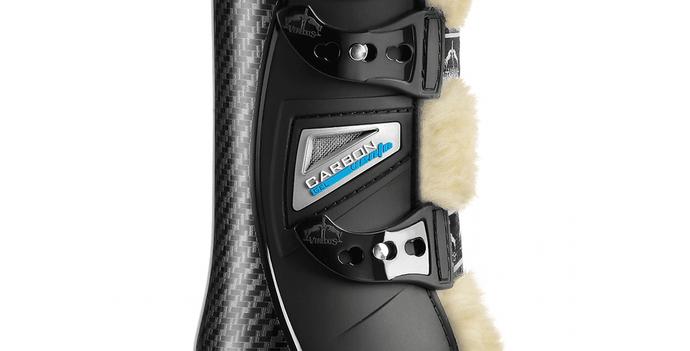 VEREDUS Carbon Gel Vento Save The Sheep Front Tendon Boots - Black: Medium