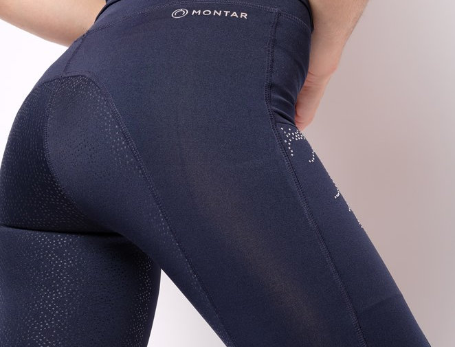 Montar Marlon Sporty Pull-on tights with crystal lians , Fullgrip