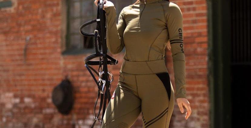 Chillout Extreme khaki silicone leggings
