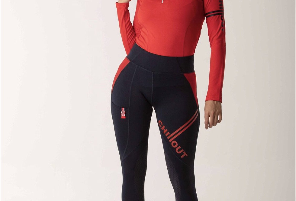 Chillout Extreme Navy/Red silicone leggings