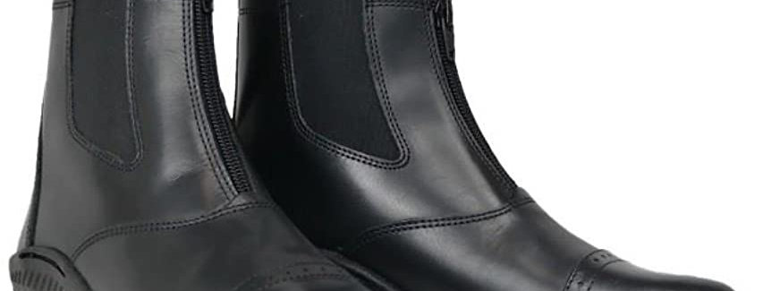 BROGINI TIVOLI ZIPPED PADDOCK BOOTS ADULT BLACK