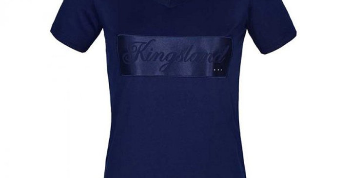 Kingsland Luna Ladies V Neck T Shirt Navy.