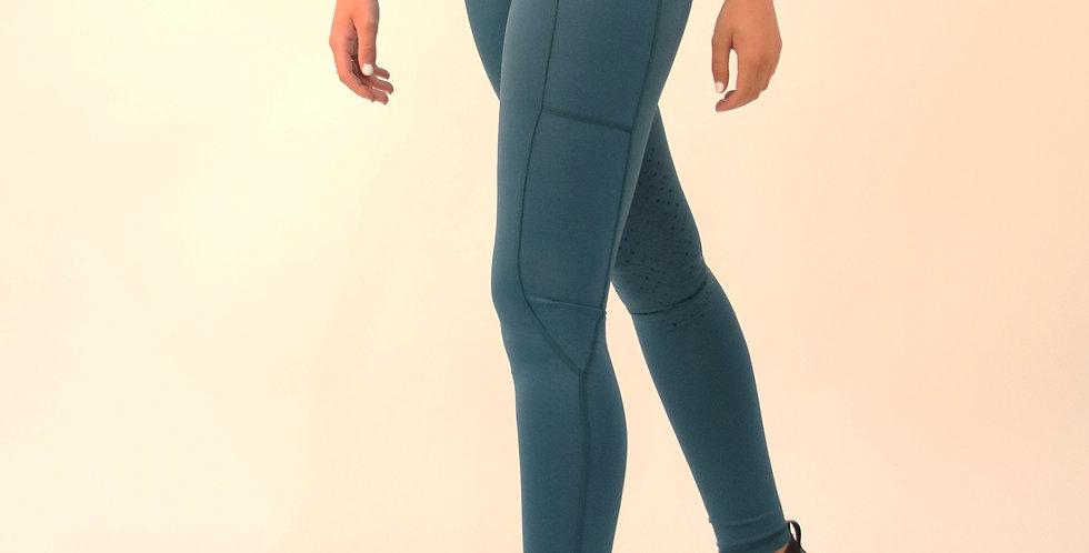GALLOP High-Waist Pocket Silicone Knee Tights