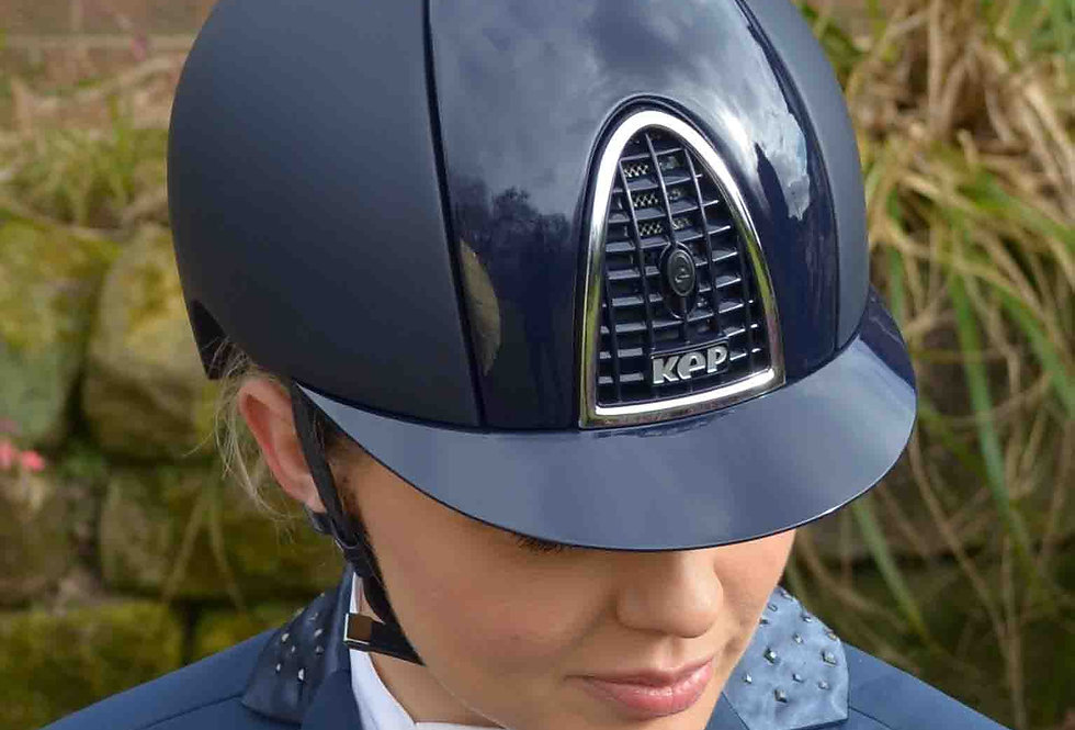 KEP Cromo Textile - Blue with Polish Grid, Front and Back Inserts and Chrome Fra