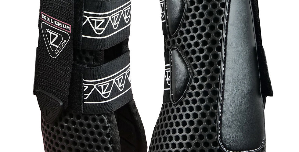 Tri-Zone Open Fronted Boots Black